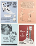 Explorers:Space Exploration, NASA Manned Flight Awareness Posters: Collection of Thirteen Different Originals, all Featuring Snoopy....