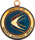 Explorers:Space Exploration, Apollo 15 Flown 14K Gold Mission Insignia Medallion Presented by Dave Scott, with Original Certificate of Authenticity. ...