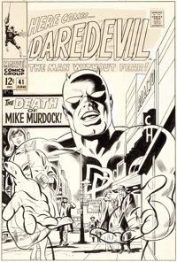 Gene Colan and Frank Giacoia Daredevil #41 Cover Original Art (Marvel, 1968)