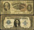 Large Size, Fr. 219 $1 1886 Silver Certificate Very Good;. Fr. 237 $1 1923 Silver Certificate Very Good-Fine.. ... (Total: 2 notes)