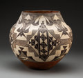 American Indian Art:Pottery, An Acoma Polychrome Storage Jar. c. 1890...