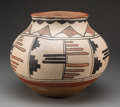 American Indian Art:Pottery, A San Ildefonso Polychrome Storage Jarc. 1885 ...