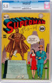 Superman #16 (DC, 1942) CGC FN- 5.5 Off-white to white pages