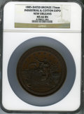 1885 Industrial & Cotton Expo, New Orleans, Bronze Medal, MS66 Brown NGC. 73 mm