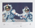 "Explorers:Space Exploration, Alan Bean Signed Limited Edition ""Right Stuff Field Geologists"" Print, #AP 16/70, with Handwritten Note in Margin, also Signed..."