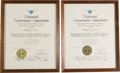 Explorers:Space Exploration, Gemini 6A & 7 National Aeronautic Association Certificates of Record (Two).... (Total: 2 Items)