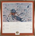 "Explorers:Space Exploration, Alan Bean Signed Limited Edition ""In Flight"" Print, #AP 16/50, also Signed by the Apollo 14 Crew. ..."