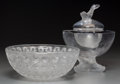 Art Glass:Lalique, A Lalique Clear and Frosted Glass Nemours Bowl andIgor Caviar Server Post-1945. Engraved Lalique,...(Total: 2 Items)