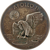 Apollo 11 Flown Silver Robbins Medallion, Serial Number 419, Directly from the Family Collection of Astronaut Richard Go...