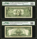 Full Face to Back Offset Error Fr. 1915-E $1 1988A Federal Reserve Note. PMG About Uncirculated 53; Full Face t