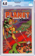 Golden Age (1938-1955):Science Fiction, Planet Comics #71 (Fiction House, 1953) CGC VG 4.0 Cream tooff-white pages....