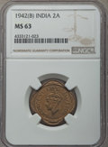 India:British India, India: British India. Quartet of Mixed Certified Annas,... (Total: 4 coins)