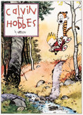 Memorabilia:Comic-Related, Bill Watterson Calvin and Hobbes Signed Limited Edition Lithograph Print #380/1000 (Watterson, 1992)....