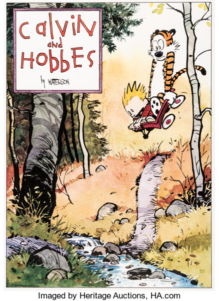Bill Watterson Calvin and Hobbes Signed Limited Edition Lithograph ...