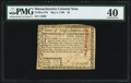 Colonial Notes:Massachusetts, Massachusetts May 5, 1780 $2 PMG Extremely Fine 40.. ...