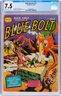 Golden Age (1938-1955):Science Fiction, Blue Bolt V2#11 (Novelty Press, 1942) CGC VF- 7.5 Cream tooff-white pages....