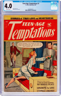 Teen-Age Temptations #7 (St. John, 1954) CGC VG 4.0 Off-white pages