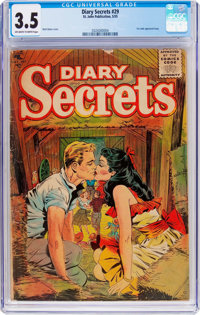 Diary Secrets #29 (St. John, 1955) CGC VG- 3.5 Off-white to white pages
