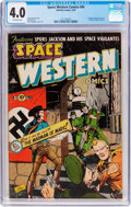 Golden Age (1938-1955):Science Fiction, Space Western #44 (Charlton, 1953) CGC VG 4.0 Off-white pages....