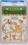 Golden Age (1938-1955):Miscellaneous, Star Comics #12 (Centaur, 1938) CGC FN- 5.5 Cream to off-white pages....