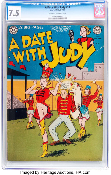 A Date With Judy #18 (DC, 1950) CGC VF- 7.5 Off-white to white pages....