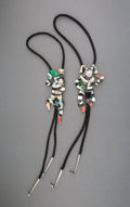 Other, Two Zuni Bolo Ties. Virgil and Shirley Benn. c. 1990. ... (Total: 2 )
