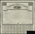 Confederate Notes:Group Lots, Ball 2 Criswell 5A $50 1861 Bond Fine-Very Fine.. ...