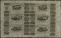 Canadian Currency: , Montreal, LC- Champlain & St. Lawrence Rail Road Company Bank 71/2d-15d-2s.6d-7 1/2d-15d-2s.6d Aug. 1, 1837 Uncut Sheet. ...