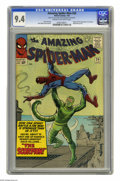 Silver Age (1956-1969):Superhero, The Amazing Spider-Man #20 (Marvel, 1965) CGC NM 9.4 Cream tooff-white pages. Spidey feels the sting of the Scorpion, who g...