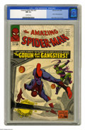 Silver Age (1956-1969):Superhero, The Amazing Spider-Man #23 (Marvel, 1965) CGC NM 9.4 Off-white pages. The Green Goblin makes a terrific showing on the cover...