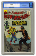 Silver Age (1956-1969):Superhero, The Amazing Spider-Man #26 (Marvel, 1965) CGC NM+ 9.6 Off-white pages. Here's the skinny on this classic issue: fourth appea...