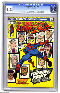 The Amazing Spider-Man #121 (Marvel, 1973) CGC NM 9.4 Off-white to white pages. This cover by John Romita Sr. announced...