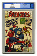 Silver Age (1956-1969):Superhero, The Avengers #4 Curator pedigree (Marvel, 1964) CGC NM- 9.2Off-white to white pages. This issue marks the first Silver Age ...