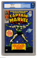 Silver Age (1956-1969):Superhero, Captain Marvel #1 (Marvel, 1968) CGC NM+ 9.6 Off-white to white pages. Mar-Vell of the Kree got his own title here after deb...