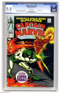"""Silver Age (1956-1969):Superhero, Captain Marvel #2 (Marvel, 1968) CGC NM/MT 9.8 White pages. Gene Colan did a marvelous job on these early issues of """"Marvel'..."""
