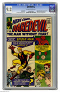 Silver Age (1956-1969):Superhero, Daredevil #1 (Marvel, 1964) CGC NM- 9.2 Off-white to white pages.The census report for this book tops out at 9.6 as of this...