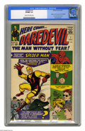 Silver Age (1956-1969):Superhero, Daredevil #1 (Marvel, 1964) CGC VF/NM 9.0 Cream to off-white pages.The Man Without Fear makes his historic debut in this is...