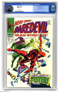 Silver Age (1956-1969):Superhero, Daredevil #42 Pacific Coast pedigree (Marvel, 1968) CGC NM+ 9.6 Off-white pages. First appearance of the Jester. Gene Colan ...