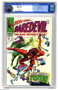 Daredevil #42 Pacific Coast pedigree (Marvel, 1968) CGC NM+ 9.6 Off-white pages. First appearance of the Jester. Gene Co...