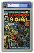 Bronze Age (1970-1979):Horror, Dead of Night #1 Pacific Coast pedigree (Marvel, 1973) CGC NM+ 9.6Off-white pages. John Romita Sr. cover. Joe Sinnott art. ...