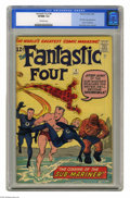 Silver Age (1956-1969):Superhero, Fantastic Four #4 (Marvel, 1962) CGC VF/NM 9.0 Off-white pages.Four issues into the Silver Age of Marvel Comics, Stan Lee a...