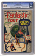 Silver Age (1956-1969):Superhero, Fantastic Four #5 (Marvel, 1962) CGC VF 8.0 Light tan to off-white pages. This fantastic issue features the first appearance...