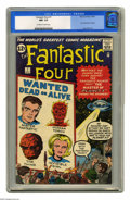 "Silver Age (1956-1969):Superhero, Fantastic Four #7 (Marvel, 1962) CGC NM- 9.2 Off-white to whitepages. Jack ""the King"" Kirby provides a nifty flying saucer ..."