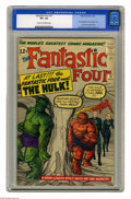 Silver Age (1956-1969):Superhero, Fantastic Four #12 (Marvel, 1963) CGC VF+ 8.5 Cream to off-whitepages. The Fantastic Four met the Hulk for the first time i...