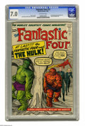 Silver Age (1956-1969):Superhero, Fantastic Four #12 (Marvel, 1963) CGC FN/VF 7.0 Off-white pages. Momentous stuff here, as the Fantastic Four have their fi...