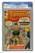 Silver Age (1956-1969):Superhero, Fantastic Four #14 (Marvel, 1963) CGC NM- 9.2 Off-white pages. The Sub-Mariner's back for another tussle with the Fantastic ...
