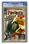 Silver Age (1956-1969):Superhero, Fantastic Four Annual #2 (Marvel, 1964) CGC NM- 9.2 Cream to off-white pages. The first detailed origin of Doctor Doom made ...