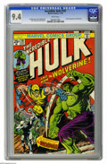 Bronze Age (1970-1979):Superhero, The Incredible Hulk #181 (Marvel, 1974) CGC NM 9.4 White pages.Wolverine's first full appearance makes this the most valuab...