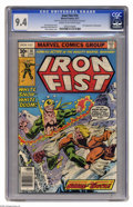 Bronze Age (1970-1979):Superhero, Iron Fist #14 (Marvel, 1977) CGC NM 9.4 Cream to off-white pages. An incredible copy of the first appearance of Sabretooth, ...