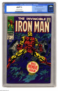 Silver Age (1956-1969):Superhero, Iron Man #1 (Marvel, 1968) CGC NM/MT 9.8 Off-white to white pages. Iron Man rocketed into his own comic here after many mont...